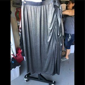 Pewter Metallic Skirt and Top